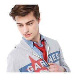 Customized Garner Knit Full Zip Hoody - Men's
