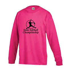 Customized Delta Pro Weight Youth Long Sleeve Tee - Colours