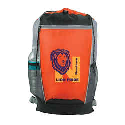 Customized Tri-Colour Drawstring Backpack