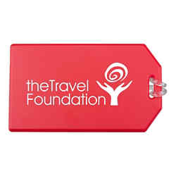 Customized Standard Luggage Tag w/ Attached Strap