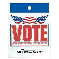 Customized Litter Bag - Vote Design