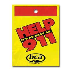 Customized Help 911 Litter Bag