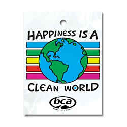 Customized Happiness is a Clean World Litter Bag