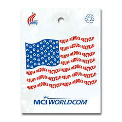 Customized Reduce Reuse Recycle Flag Litter Bag