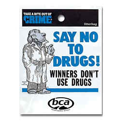 Customized Winners Don't Use Drugs Litter Bag