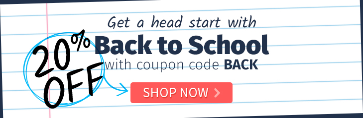 Save on Back to School products with 20% off