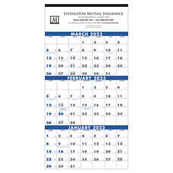 Customized Triumph® 3 Month Planner 4 Sheet Calendar