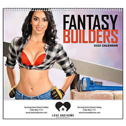 Customized GoodValue® Fantasy Builders Calendar (Spiral)