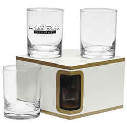 Customized Premium Set of 4 Double Old Fashion Glasses -14 oz