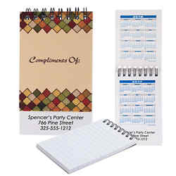 Customized Soft Touch Notepad with Calendar