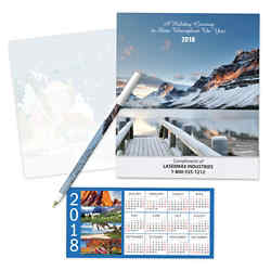 Customized 2018 Four Seasons Calendar Gift Set