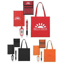 Customized Tradeshow Survival Kit in a Tote Bag