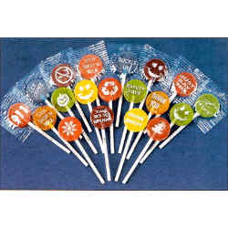 Customized Lollipops - Imprinted on the Stick