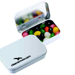 Customized Rectangular Tin - Assorted Jelly Beans
