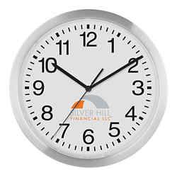 Customized 12 Inch Slim Metal Wall Clock