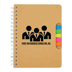 Customized Eco Spiral Notebook with Pen and Sticky Flags