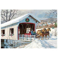 Customized Greeting Card - Holiday Ride