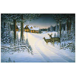 Customized Greeting Card - Northern Retreat