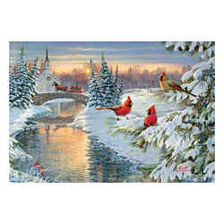 Customized Greeting Card - Winter Crossing