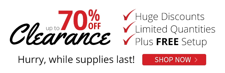 Up to 70% off Clearance - Hurry, while supplies last! Shop Now.
