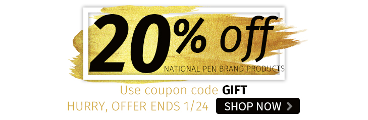 20% off National Pen Brand Products - Hurry, Offer Ends 1/24. Shop Now