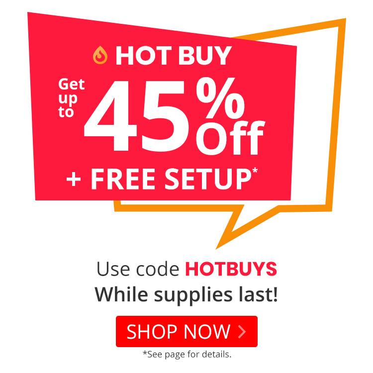 Up to 47% off Hot Buys with promo code HOTBUYS