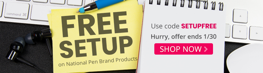 Free set up on national pen brand products
