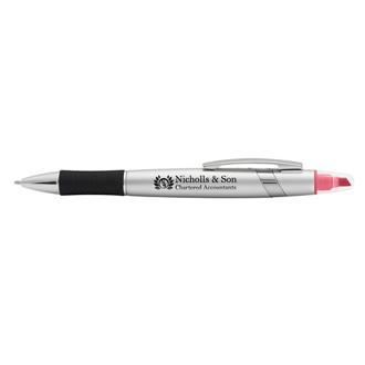 Customized 2-in-1 Dune Pen & Highlighter