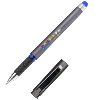 Customized Soft Touch Accent Gel Pen with Colored Stylus