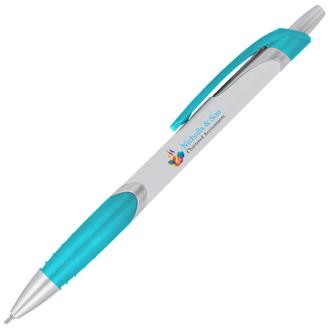 Customized White Metallic Splendor Pen