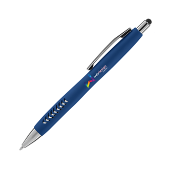 Customized Soft Touch Basilia Pen with Stylus Top