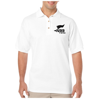 Customized Gildan DryBlend® 6 oz, 50/50 Jersey Polo - White