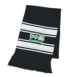 Customized Two Tone Knit Scarf with Fringe