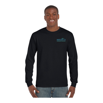 Customized Gildan® Ultra Cotton® Long Sleeve T-Shirt-Colors