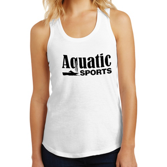Customized District Made Ladies Perfect Tri Tank-Wht
