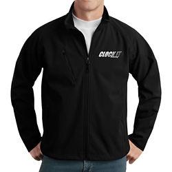 Customized Port Authority Textured Soft Shell Jacket