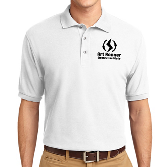 Customized Port Authority Silk Touch Polo-Wht
