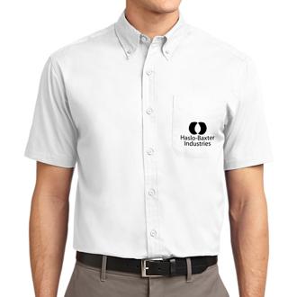 Customized Port Authority Short Sleeve Easy Care Shirt-Wht
