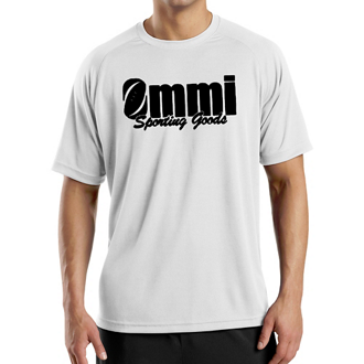 Customized Sport-Tek Dry Zone Short Sleeve Raglan T-Shirt-Wht
