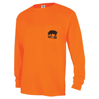 Customized Delta® Magnum Weight™ Long Sleeve Pocket Tee-Color