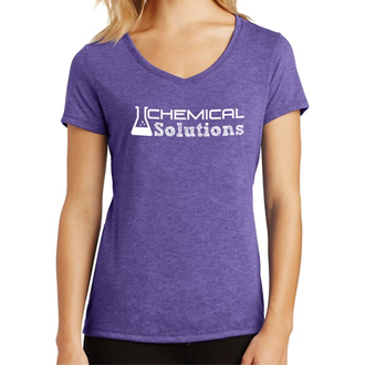 Customized District Made Ladies' Perfect Tri V-Neck Tee-Cls