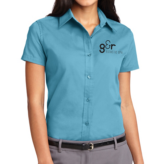 Customized Port Authority Ladies Sh Slv Easy Care Shirt-Cls