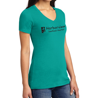 Customized Port Authority Ladies Concept Stretch V-Neck T-Cls