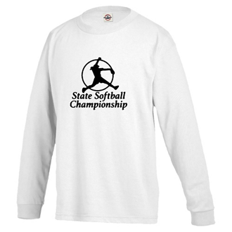 Customized Delta Pro Weight Youth Long Sleeve Tee - White