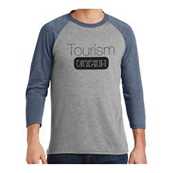 Customized District Made Men's Perfect Tri 3/4-Sleeve Raglan