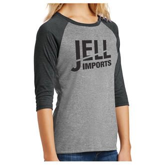 Customized District Made Ladies Perfect Tri 3/4-Sleeve Raglan