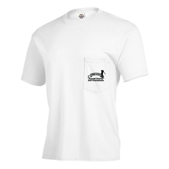 Customized Delta® Magnum Weight™ Adult Pocket Tee-White
