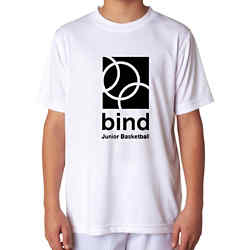 Customized UltraClub® Youth Cool & Dry Interlock Tee-White