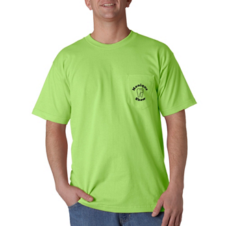 Customized Bayside® Adult SS Tee with Pocket-Colors