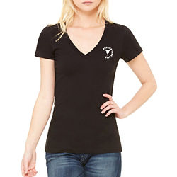 Customized Bella + Canvas® Ladies Jersey SS V-Neck Tee-Colors